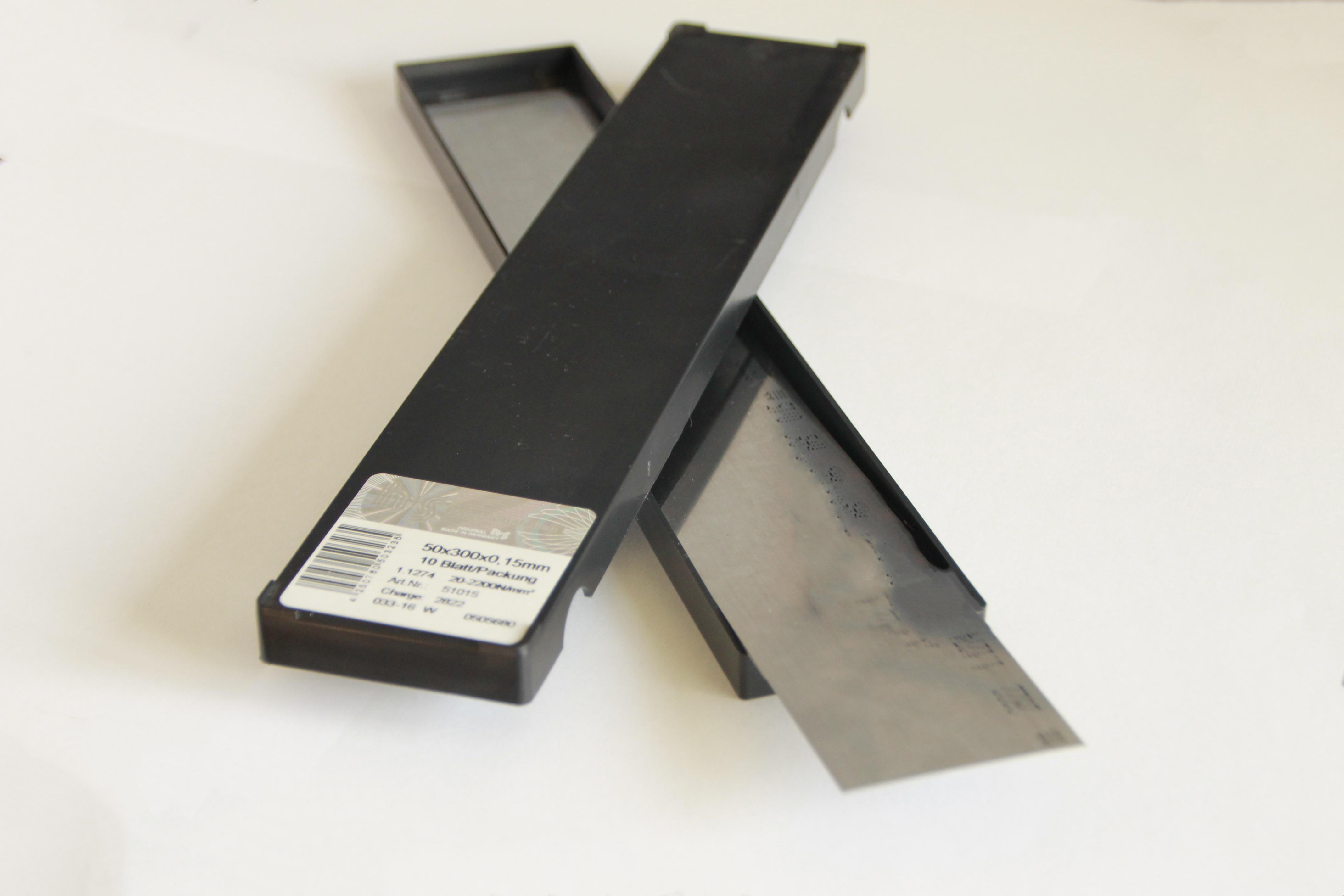 Feuillard acier DC04 rouleau 5 M X 150 X 0.025